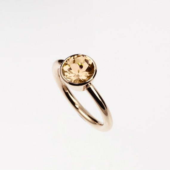 citrine ring yellow gold engagement ring by