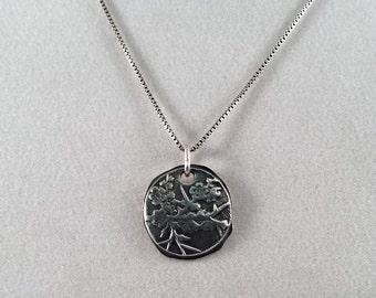 Cherry Blossom Pendant - .Handmade Silver Pendant