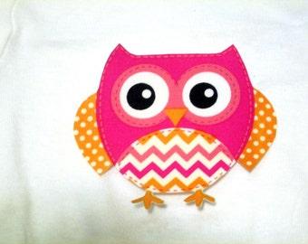 Owl Iron On Applique