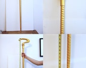 "RIDDLER Spiral CANE 42"" inch Question Mark Gold Costume Walking Stick Prop Cosplay Comic Con"