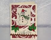 Snowman Joy Christmas Card