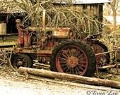 Farmall Tractor Print, farm photography, ranch decor, sepia photography, fathers day gift under 20, 5x7 8x10 11x14 fine art print