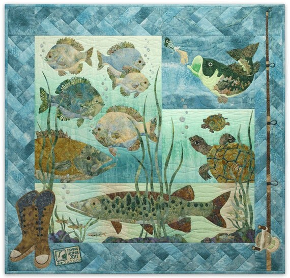 Mckenna Ryan Something Fishy Laser Cut Quilt By