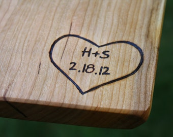 Cutting Boards and Wood items Personalization- Hand engraved- Unique Wedding Gifts and Wood 5th Anniversary Gifts - Custom design