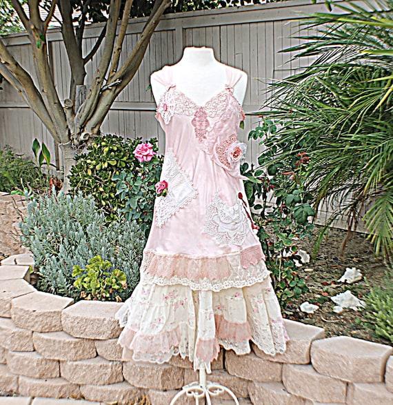 Slip Dress Women's Shabby Chic Romantic By RelovedClothingCo