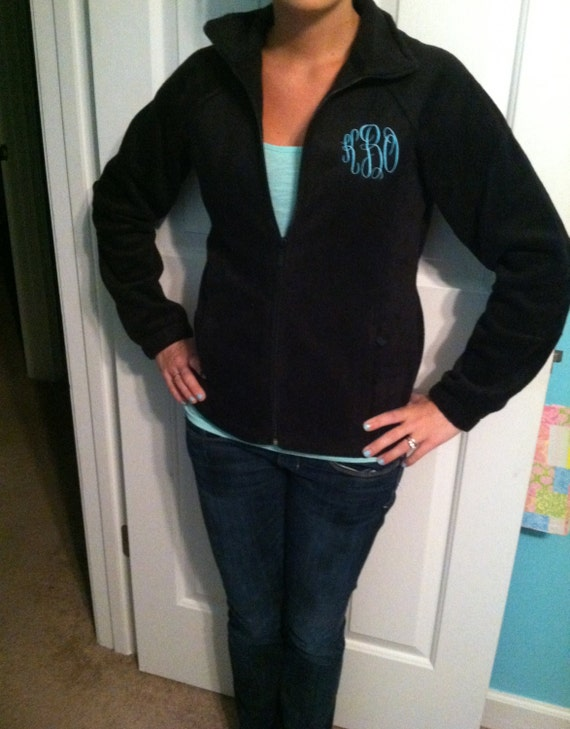 Monogram Fleece Jacket Other Colors Available by