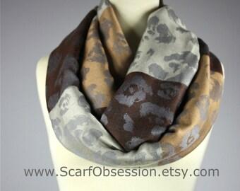 Brown scarf, striped scarf, floral scarf, beige scarf, grey scarf