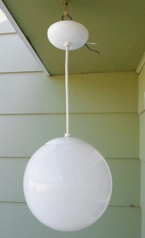 Light fixture medium 10 bubble globe mod eichler for Mid century modern globe pendant light