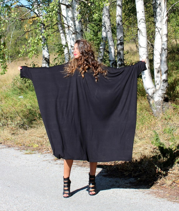 Black XXXL XXXXL Plus size oversized cotton caftan dress/cover up dress / party dress / sundress/ everyday dress/evening dress