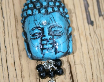 Faux Turquoise Young Buddha Pendant