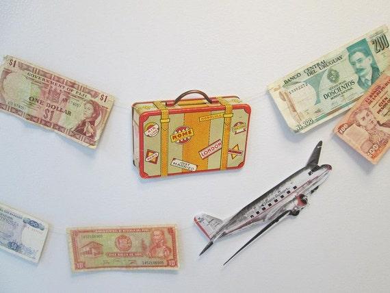 Bon voyage garland adventure airplane theme travel decor for Decoration voyage