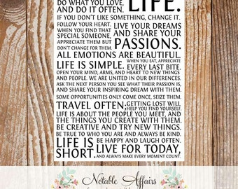 This is your life Manifesto Art Print  - Size: 8x10