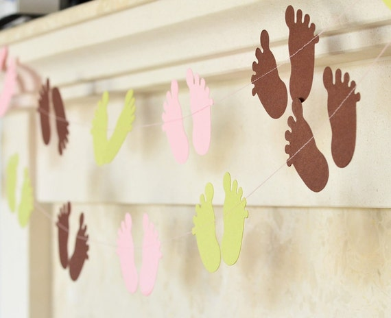 Items similar to shimmer baby shower decorations baby for Baby feet decoration