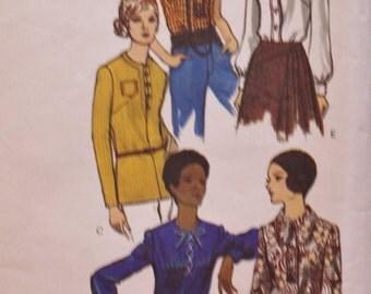 Blouse Vintage Sewing Pattern /1970s /Vogue 7872  /Bust 34