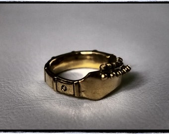Brass Guitar Neck 'Rockin' Ring (CLEARANCE)