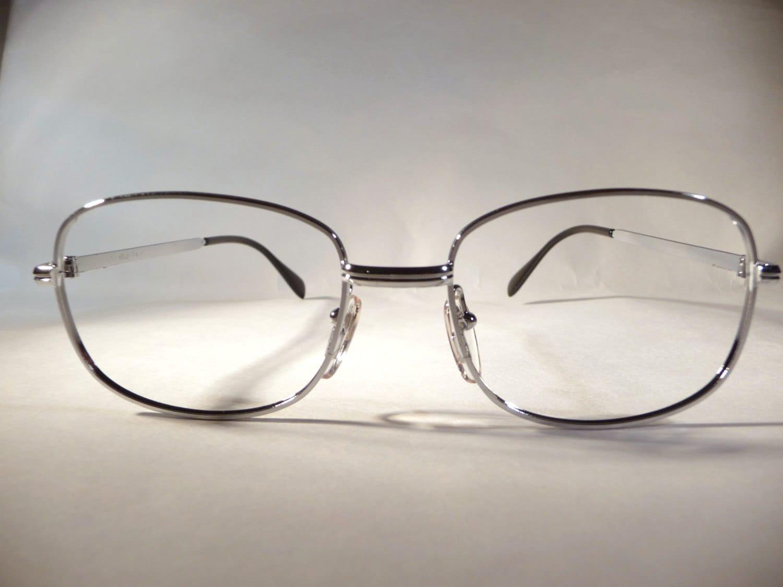 Italienischen 80er Jahre Brillenfassungen OGZ Silber Metall
