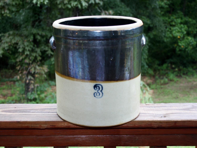 Do Salt Lamps Leak Water : Vintage Old Crock Jugs Bowls Ohio Stoneware by Romantiquetouch