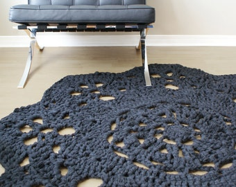 "DIY Crochet PATTERN - Throw Blanket / Rug Super Chunky Doily 8 Styles (30""-66"" diameter) (blanket003)"