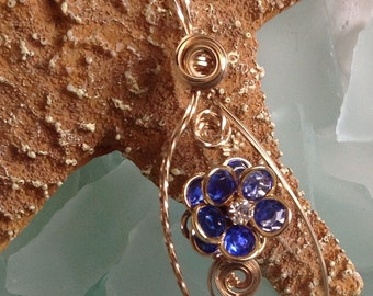 CAVIAR DREAMS ooak Vintage Assemblage Gold Wire Wrapped Flower Faceted Glass Bead Necklace - Etsy andersonhs