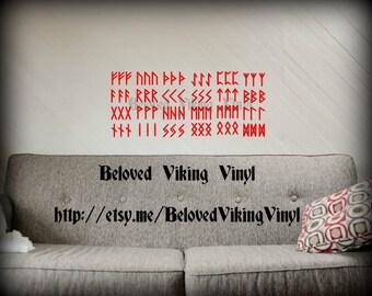 NOW 3 SIZES! Vinyl sticker rune set (for cars, walls, laptops, helmets...etc)