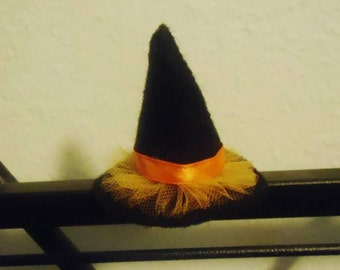 Felt and Tulle Witch Hat Hairclip