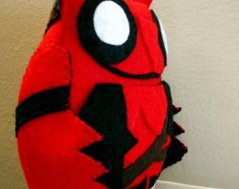Deadpool Inspired Owl Plush