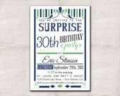 Birthday Invitation custom printable 5x7