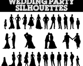 Wedding Party Silhouette Clip Art Program Images & Pictures - Becuo