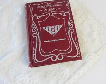 Poetry-Robert Browning's Poetry-Vintage Poetry Book