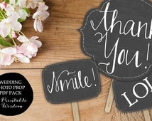 Printable Photo booth props, wedding photo booth chalkboard prop signs printable wedding props, chalkboard Printable Wisdom INSTANT DOWNLOAD