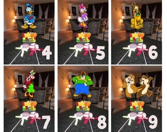 """DIY 12"""" Small Mickey Mouse Birthday Party Centerpieces FREE KIT 1st Birthday Mitzvah Baby Shower Clubhouse Minnie Goofy Donald Centerpiece"""