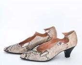 vintage 80's Maud Frizon snakeskin heel