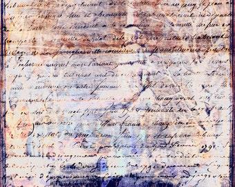 Digital Texture: Victorian Script Purple