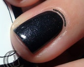 Into the Black Nail Polish - very special shimmery black