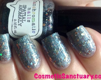 CLEARANCE Spatial Anomaly Nail Polish - blue-violet duochrome holo glitter