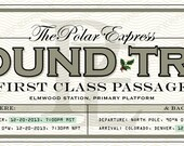 "Customized Polar Express Train Ticket (pdf); 9.5"" x 3.5"""