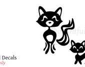 Fox Decal Family- (Various Colors) - (Sold as a set of 4 (or 5) -OR- Individually)