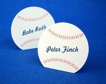 Autographed Baseball Place Cards Set of 24