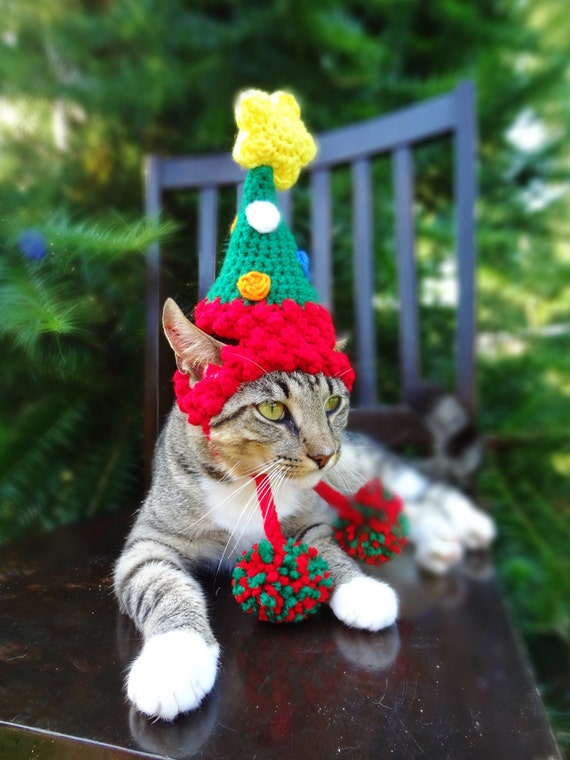 Christmas Cat Costume Hat The Christmas Tree Hat for Cats
