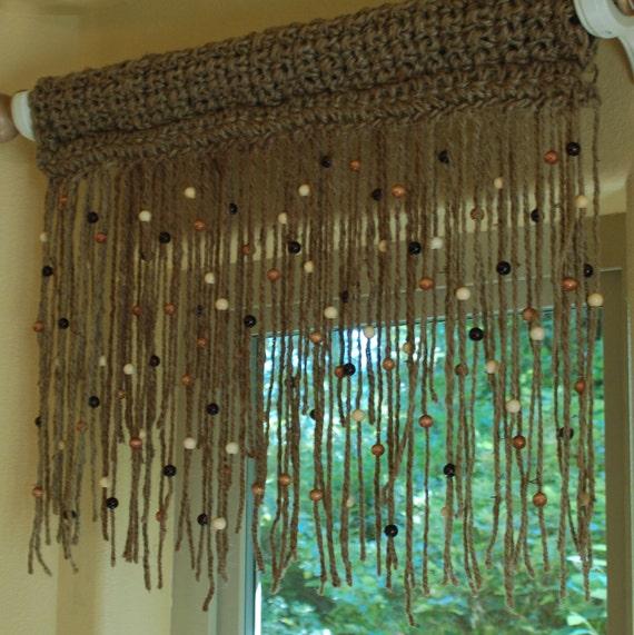 Natural 100 Jute Crochet Window Valance 18 Long By