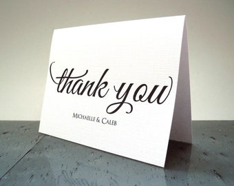 Wedding Thank You Cards from Couple - Wedding Shower Thank You Cards - 14 Cards & Envelopes