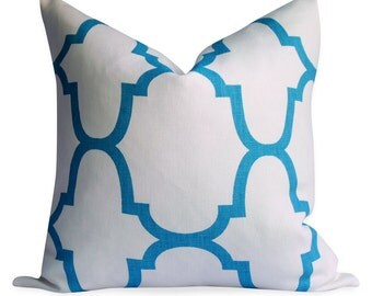 Kravet Windsor Smith Riad Pillow Cover - SAME Fabric BOTH Sides - Invisible Zipper - 18x18, 20x20, 22x22 and lumbar sizes -  pillow case