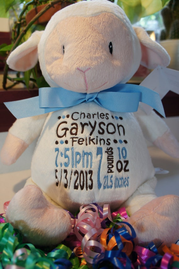 Personalized Stuffed Animal Baby Cubbies Loverbee – Personalized Birth Announcement