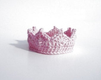 Baby Girl Crochet Crown Baby Girl Princess Crown Newborn Baby Crown Photo Prop Baby Shower Gift Infant Baby Girl Gifts Knit Crown Hat