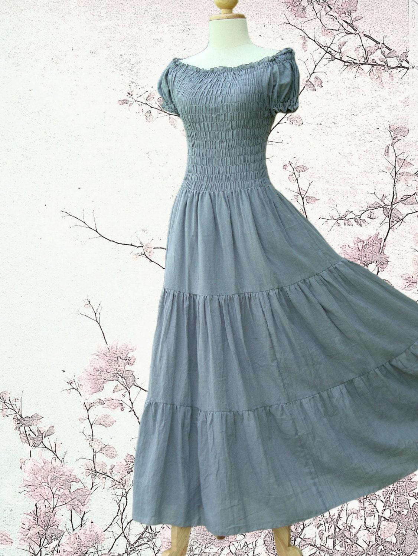 Cotton long dresses uk