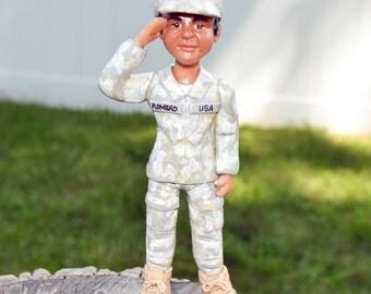 Polymer Clay US Army Cake Topper, Souvenir, Keepsakes, Figurine