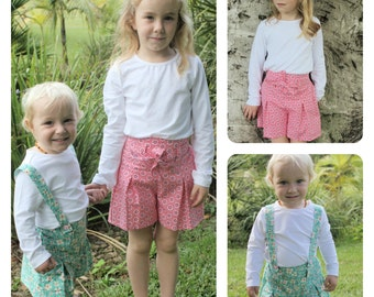 Pleats & Thank You Shorts: Baby, Toddler and Children 0/3 - 13/14 PDF pattern