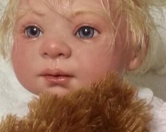 Stunning violet blue eyed Bellamy, a precious blond reborn beauty