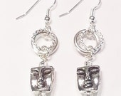 Earrings Silver Faces Gift 425