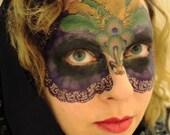 Purple Mardi Gras Mask - Temporary Makeup Tattoo for Mardi Gras / Carnival Masquerade Cosplay Party